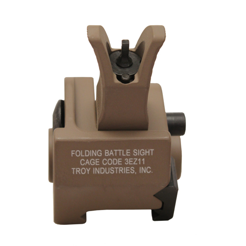 Troy Industries Troy Industries Front M4 Gas Block Sight Flat Dark Earth, Folding SSIG-GBF-0MFT-00