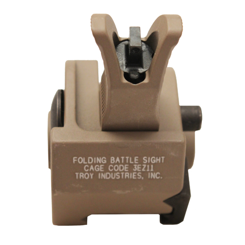 Troy Industries Troy Industries Front M4 Gas Block Sight Flat Dark Earth, Tritium, Folding SSIG-GBF-0MFT-01