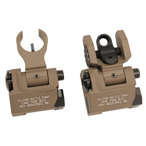 Troy Industries Troy Industries Micro- HK Sight Set Flat Dark Earth, Folding SSIG-IAR-SMFT-00