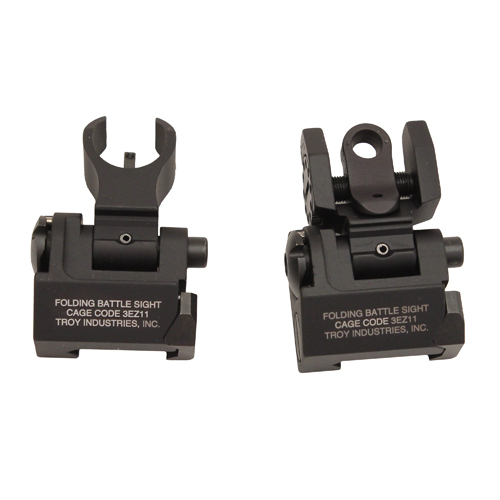 Troy Industries Troy Industries Micro-HK Sight Set Black, Tritium, Folding SSIG-IAR-STBT-00