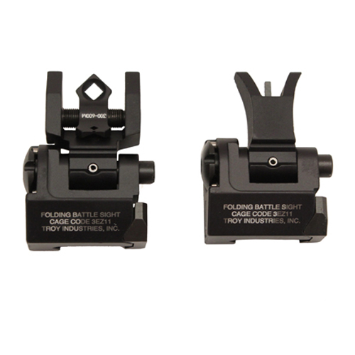 Troy Industries Troy Industries Micro- M4 Sight Set Black, Folding SSIG-MCM-SSBT-00