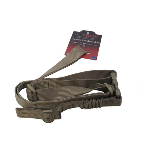 Troy Industries Two Point Rapid Adjust BattleSling Flat Dark Earth