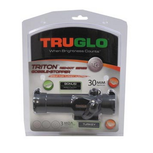 Truglo Truglo Red-Dot Sight 30mm, 3 Color, Pressure Switch, Sunshade, Black TG8230GB