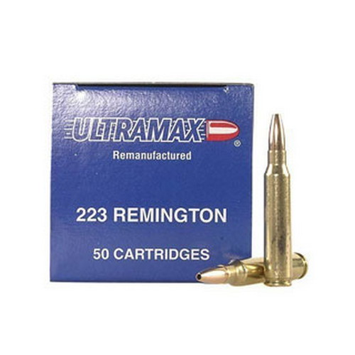 Ultramax Ultramax 223 Remington Remanufactured by 52gr, Jacketed Hollow Point, (Per 50) 223R1