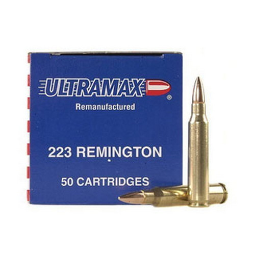 Ultramax Ultramax 223 Remington Remanufactured by 55gr, Full Metal Jack, (Per 50) 223R2