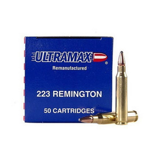 Ultramax Ultramax 223 Remington Remanufactured by 55gr, Soft Point, (Per 50) 223R3