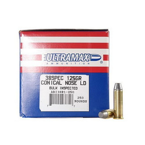 Ultramax Ultramax 38 Special by 38 Special, 125gr, Conical Nose Lead, (Per 50) 38R1
