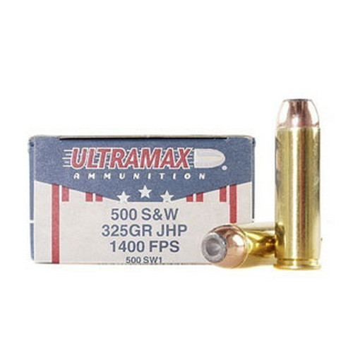 Ultramax Ultramax 500 Smith & Wesson by 500 S&W, 325gr, Jacketed Hollow Point, (Per 20) 500SW1