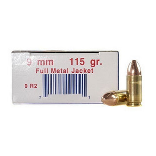 Ultramax 9mm Luger by Ultramax 9mm Luger, 115gr, Full Metal Jacket, (Per 50)