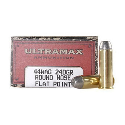 Ultramax Ultramax 44 Magnum by , 240gr, Round Nose Flat Point Lead New, (Per 50) CB44MN1