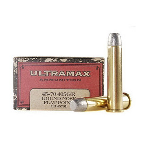 Ultramax Ultramax 45-70 Government by , 405gr, Round Nose Flat Point Lead New, (Per 20) CB45701