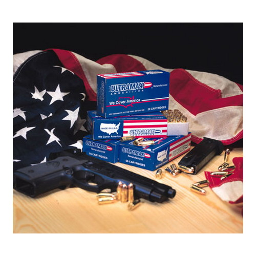 Ultramax Ultramax 9mm Luger by 9mm Luger, 115gr, Jacketed Hollow Point, (Per 50) 9R3