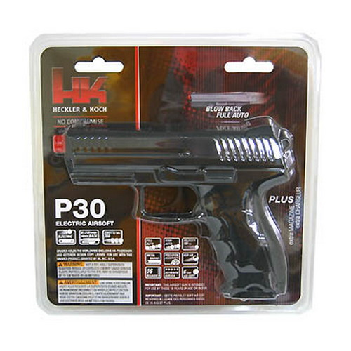 Umarex USA H&K Replica Soft Air P30, Battery, Black