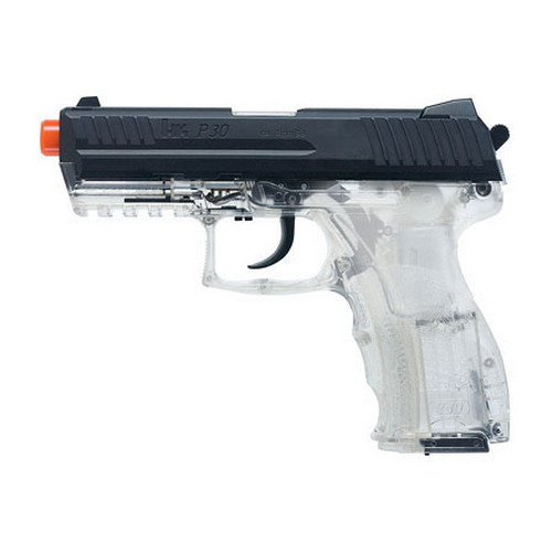 Umarex USA H&K Replica Soft Air P30, Spring w/MS, 15 Round - Clear 2273013