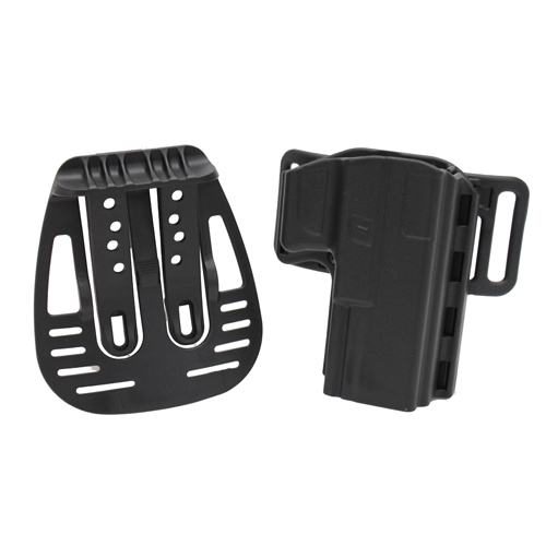 Uncle Mikes Uncle Mikes Reflex Open Top Holster, Black Size 21 Right Hand 74211