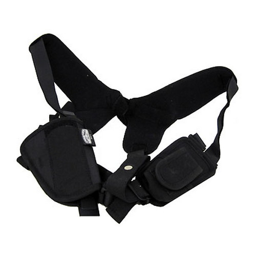 Uncle Mikes Uncle Mikes Pro-Pak Horizontal Shoulder Holster Black Nylon Size 16 77160