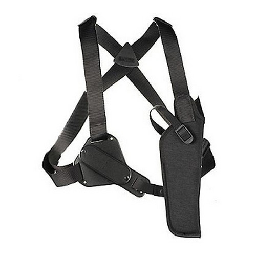 Uncle Mikes Uncle Mikes Sidekick Vertical Shoulder Holster Cordura Black Size 4, Right Hand 83041