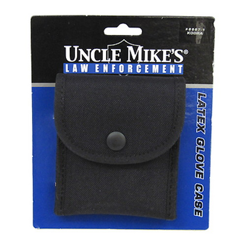 Uncle Mikes Uncle Mikes Cordura Latex Glove Pouch Black Single 88871