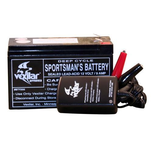 Vexilar Inc. Vexilar Inc. Battery & Charger (9 Amp Hour w/Light) V-120