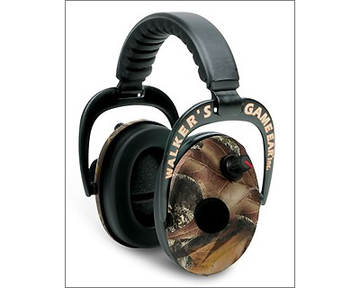 Walker Game Ear Walkers Game Ear Power Muffs w/Adjustable Frequency Tuning Mossy Oak GWP-PMMO