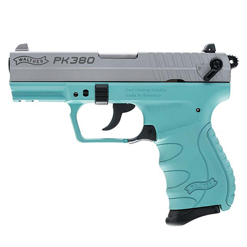 Walther Walther PK380 Pistol 380 ACP Robins Egg Blue 8 Round