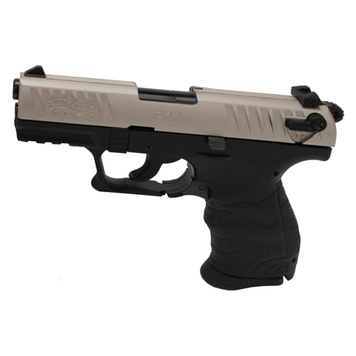 Walther Walther P22 Pistol, .22 Long Rifle Nickel, 3.42
