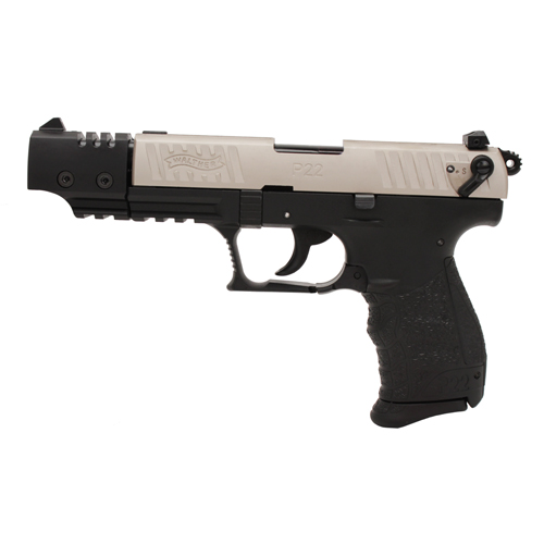 Walther Walther P22 Pistol, .22 Long Rifle Target, Nickel, 5