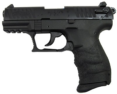 Walther Pistol Walther P22 Series .22 Long Rifle Black, 3.4