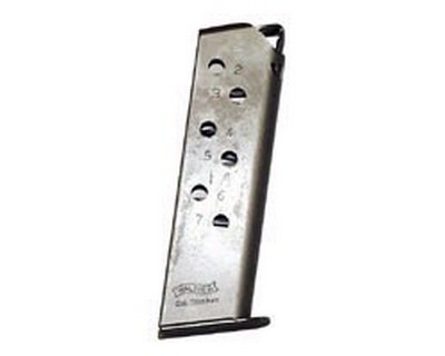 Walther Walther Magazine PPK/S .380 ACP Standard 7 Round Nickel VAF24412
