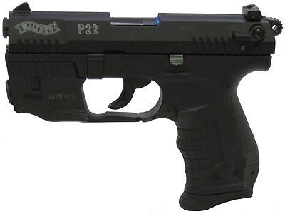 Walther Pistol Walther P22 Series .22 Long Rifle 10 Shot, 3.4