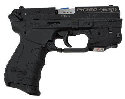 "Pistol Walther PK380 with Laser 8-Shot 3.6"" Double Action Black WAN40010"