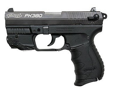 "Pistol Walther PK380 with Laser 8-Shot 3.6"" Double Action Black WAP40010"