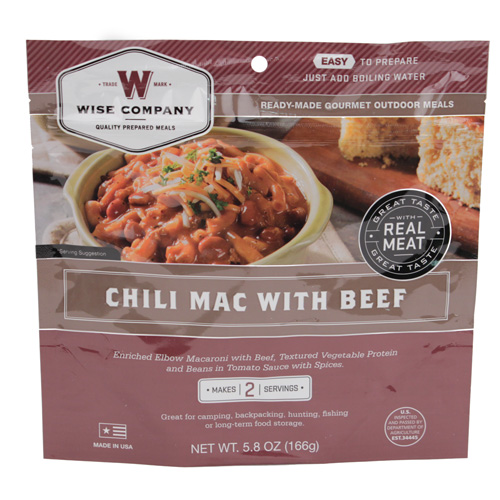 Wise Foods Wise Foods Entr�e in Pouch Chili Mac w/Beef 2 Servings 03-701