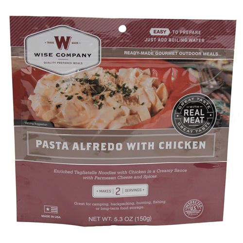 Wise Foods Wise Foods Entrée in Pouch Pasta Alfredo w/Chicken 2 Servings 03-702