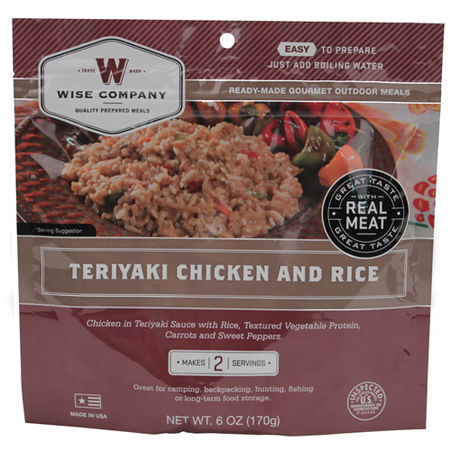 Wise Foods Wise Foods Entrée in Pouch Teriyaki Chicken w/Rice 2 Servings 03-703