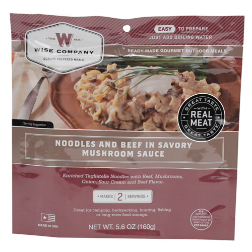 Wise Foods Wise Foods Entr�e in Pouch Noodles and Beef 2 Serving Pouch 03-704