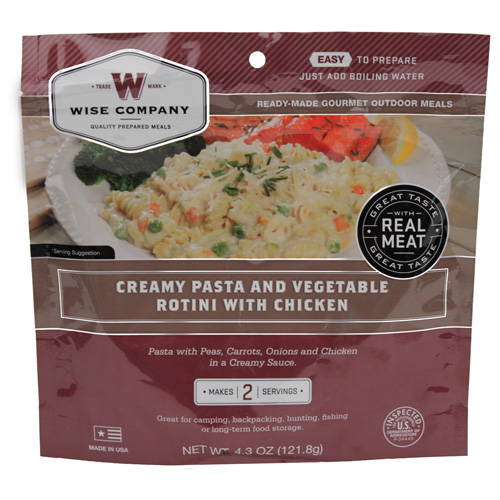 Wise Foods Wise Foods Entrée in Pouch Creamy Pasta & Vegetable Rotini w/Chicken, 2 Servings 03-706