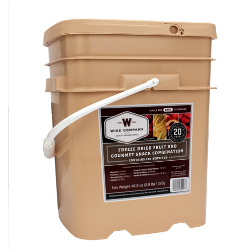Wise Foods Wise Foods Freeze Dried 120 Serving Bucket Fruit & Snack 40-50120