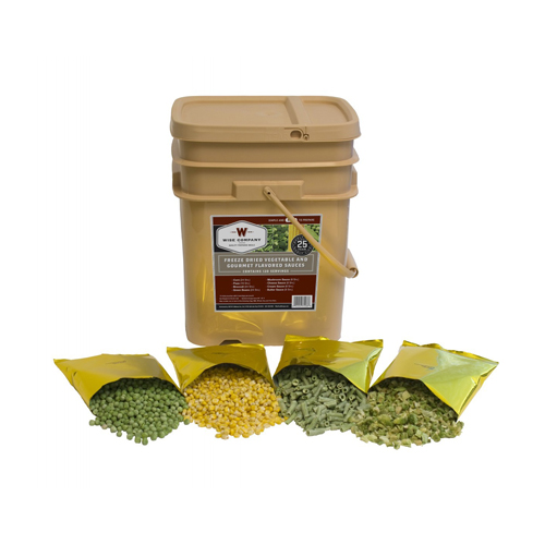Wise Foods Freeze Dried 120 Serving Bucket Vegetables & Sauce