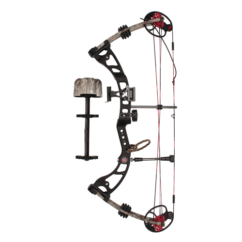 Winchester Archery Laredo 65 lb Black Riser, Proveil Reaper Buck Camo Limbs Package Left Hand