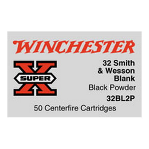 Winchester Ammo Winchester Ammo 32 Smith & Wesson(Blanks) 32 S&W, 0gr, Black Powder, (Per 50), Blanks 32BL2P