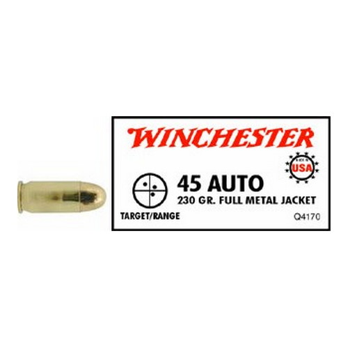 Winchester Ammo Winchester 45 ACP 230 Gr. Full Metal Jacket (Per 50) Q4170A1