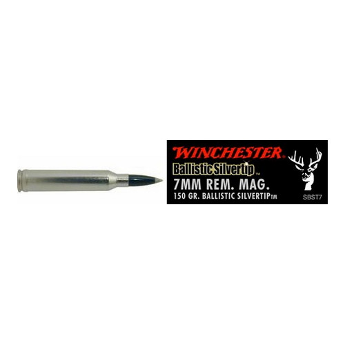 Winchester Ammo Winchester Ammo 7mm Remington Magnum 7mm Remington Mag, Supreme 150gr., Ballistic Silvertip, (Per 20) SBST7