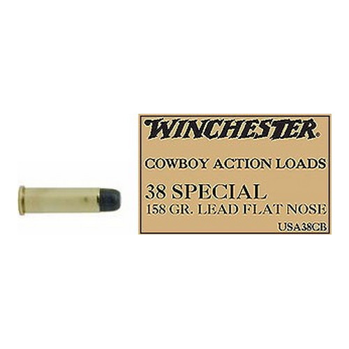 Winchester Ammo 38 Special 38 Special, 158gr USA, Cowboy Loads Lead, (Per 50)