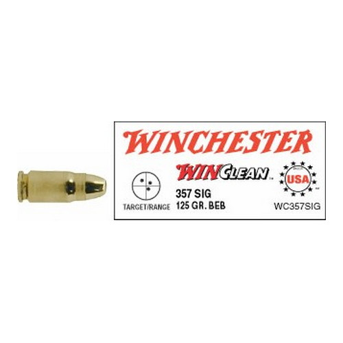 Winchester Ammo Winchester Ammo 357 Sig 357 Sig, 125gr, WinClean Brass Enclosed Base, (Per 50) WC357SIG
