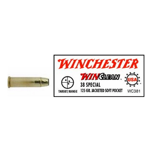 Winchester Ammo 38 Special 38 Special, 125gr, WinClean Jacketed Soft Point, (Per 50)