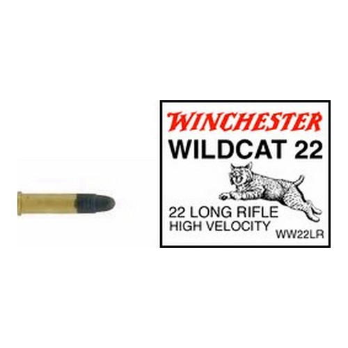 Winchester Ammo 22 Long Rifle 22 Long Rifle, 40gr,Wildcat Lead Round Nose (Per 50)