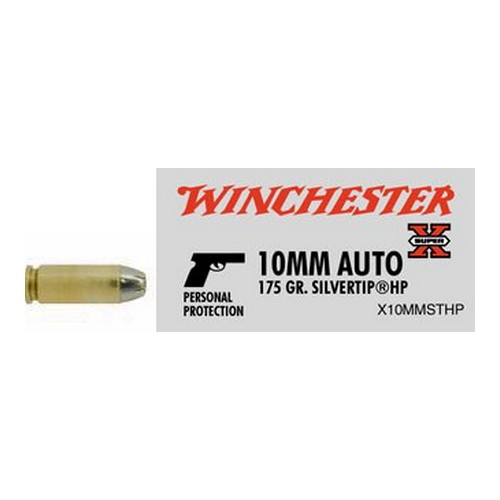 Winchester Ammo Winchester Ammo 10mm Automatic, 175Gr. Silvertip HP (Per 20) X10MMSTHP