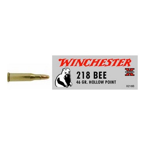 Winchester Ammo Winchester Ammo 218 Bee 46Gr.,Hollow Point, Super X (Per 50) X218B