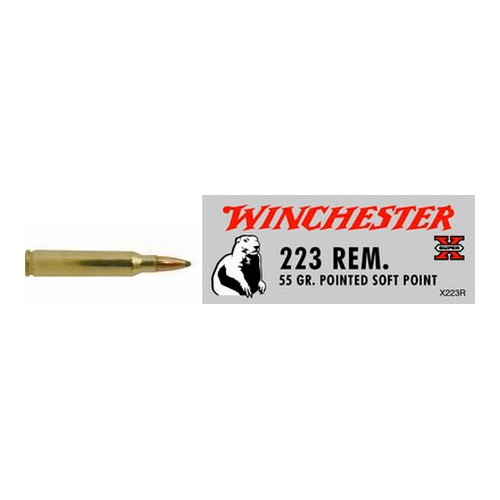 Winchester Ammo 223 Remington 55gr, Super-X, Pointed Soft Point, (Per 20)